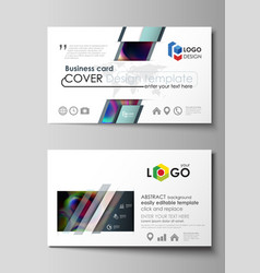business card templates easy editable layout vector image