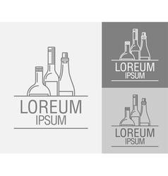 emblem in the drinks menu vector image vector image