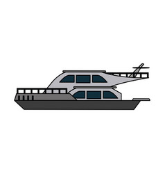 luxury yacht isolated vector image vector image