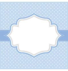 Polka dot frame vector image vector image