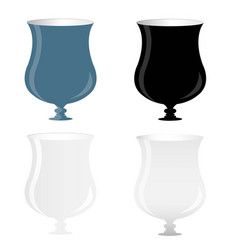 wine glass with luxury vector image vector image