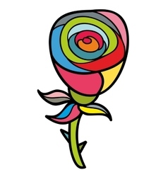 Artistic doodle rose vector image