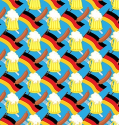 Beer mug and flag of Germany Seamless pattern of vector image vector image