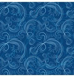 Blue christmas pattern with ice vector image vector image