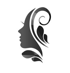 face of a beautiful woman s profile vector image vector image