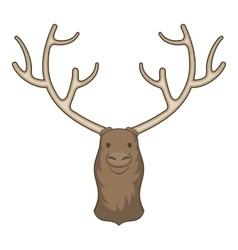 Moose head icon cartoon style vector image