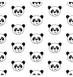 Cute panda pattern vector image