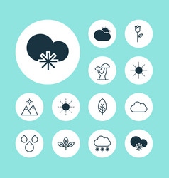 Ecology icons set collection of sprout cloud vector