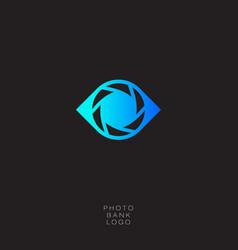 photo bank logo vector image vector image