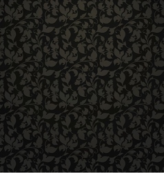 Seamless pattern black vector image