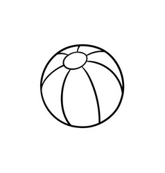a toy beach ball hand drawn outline doodle icon vector image