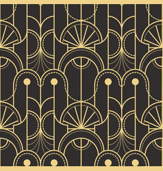 Abstract art deco seamless pattern 05 vector