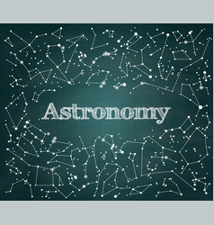Astronomy scientific school background vector