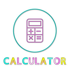 banking transaction calculator outline style icon vector image
