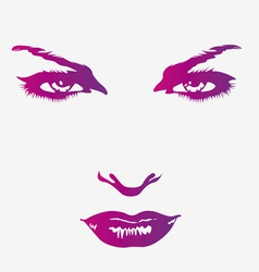 beautiful womans face vector image
