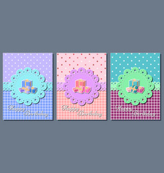 birthday cards holiday templates vector image