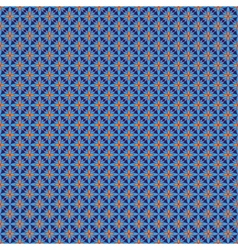 Blue and orange abstract seamless pattern vector image