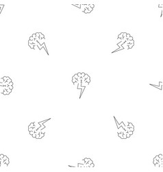 brainstorming pattern seamless vector image