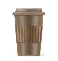 brown cup of coffee vector image
