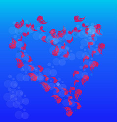 butterflies forming a loving heart icon vector image