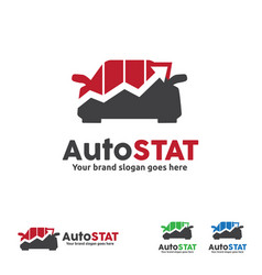 car graph logo automobile trend car statistic vector image