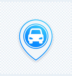 car parking icon on map pointer location mark vector image