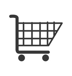 Cart buy market isolated vector