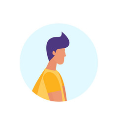 Casual man profile avatar isolated male cartoon vector