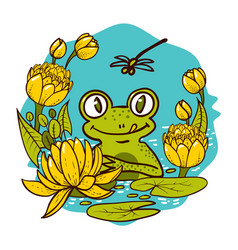 children s print the king is a frog vector image
