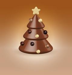 Chocolate tree christmas food concept vector