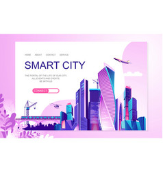 City landscape concept vector