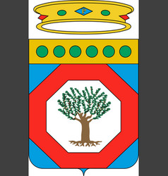 Coat of arms of apulia italy vector