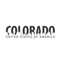 Colorado usa united states of america text or vector