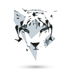 Conceptual polygonal tiger Abstract low poly vector