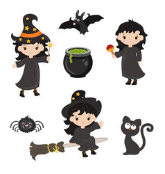 cute little witch vector image