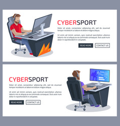 Cybersport and gamers poster vector