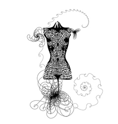 dress mannequin vector image