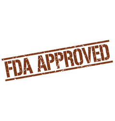 Fda approved stamp vector