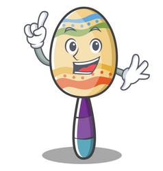 Finger maracas character cartoon style vector