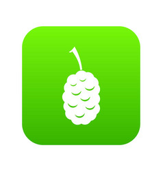 Fruit of mulberry icon digital green vector