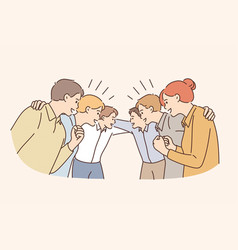 good business team and cooperation concept vector image