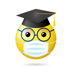 graduates 2020 social distance vector image