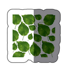 Green leaves background icon vector