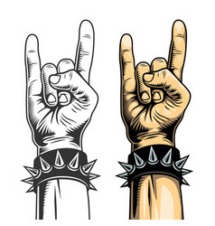 Hand in rock sign vector