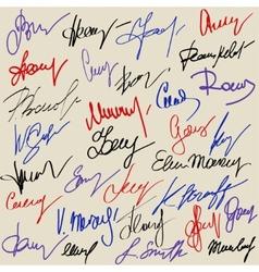 Hand signature set vector image