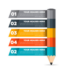 Infographics elements five steps process vector