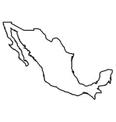 isolated mexican map vector image