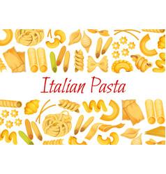 Italian pasta restaurant poster vector