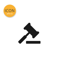 judge gavel icon isolated flat style vector image