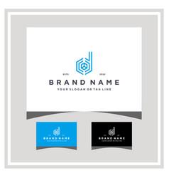 Letter d hexagon tech logo design and business vector